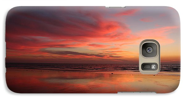 Galaxy Case featuring the photograph Ocean Sunset Reflected  by Christy Pooschke