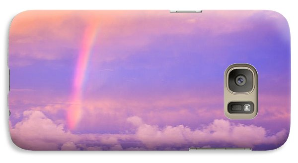 Galaxy Case featuring the photograph Pink Sunset Rainbow by Peta Thames