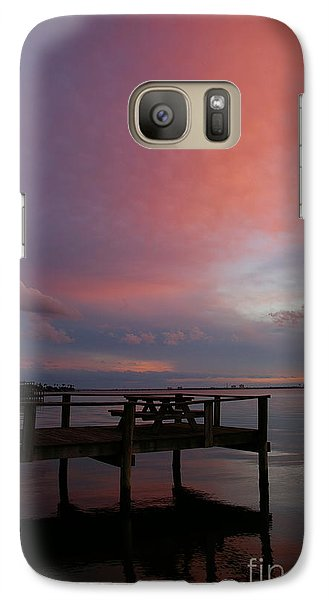 Galaxy Case featuring the photograph Pink Sunset by Tannis  Baldwin