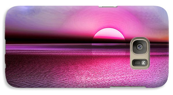 Galaxy Case featuring the digital art Pink Sunset by Tyler Robbins