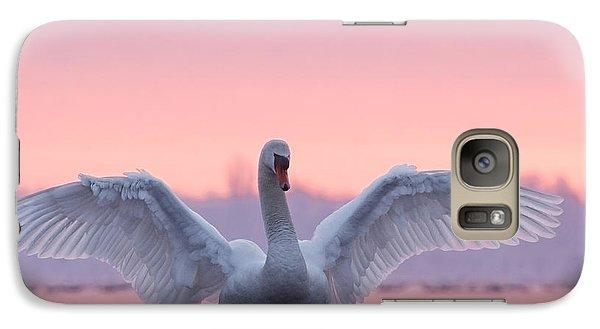 Pink Swan Galaxy S7 Case
