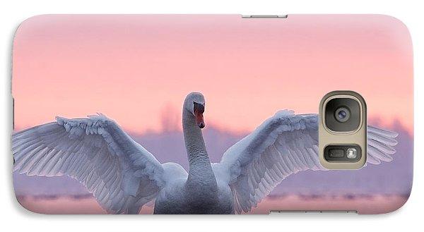 Pink Swan Galaxy S7 Case by Roeselien Raimond