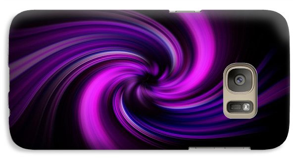 Galaxy Case featuring the digital art Pink Swirl by Trena Mara