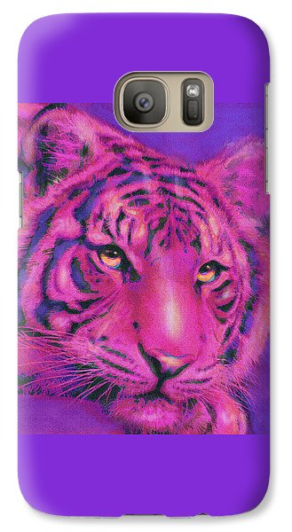 Galaxy Case featuring the digital art Pink Tiger by Jane Schnetlage