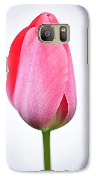 Pink Tulip Galaxy S7 Case
