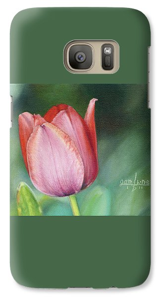 Galaxy Case featuring the painting Pink Tulip by Joshua Martin
