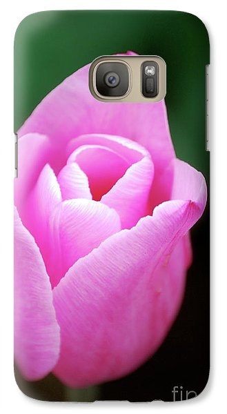 Galaxy Case featuring the photograph Pink Tulip by Kathy Gibbons