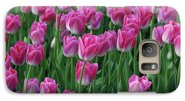 Galaxy Case featuring the photograph Pink Tulips 2 by Allen Beatty