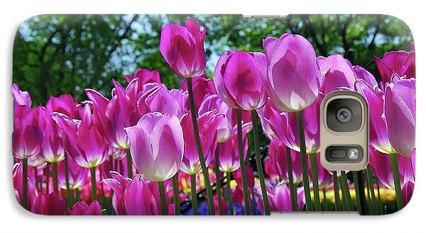 Galaxy Case featuring the photograph Pink Tulips by Allen Beatty