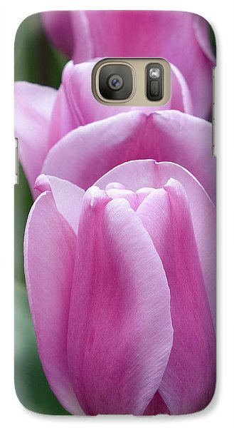 Galaxy Case featuring the photograph Pink Tulips by Cindy McDaniel
