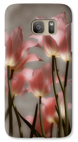 Galaxy Case featuring the photograph Pink Tulips Glow by Michelle Joseph-Long