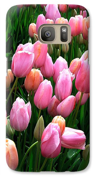 Galaxy Case featuring the photograph Pink Tulips by Haleh Mahbod