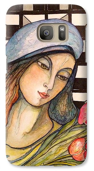 Galaxy Case featuring the painting Pink Tulips by Rae Chichilnitsky