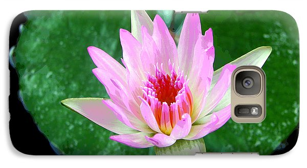 Galaxy Case featuring the photograph Pink Waterlily Flower by David Lawson
