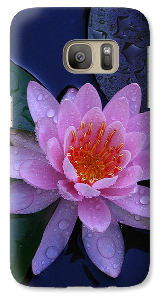 Galaxy Case featuring the photograph Pink Waterlily by Raymond Salani III