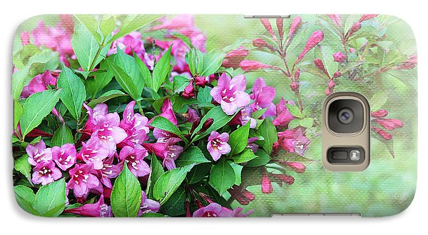 Galaxy Case featuring the photograph Pink Weigela by Trina  Ansel