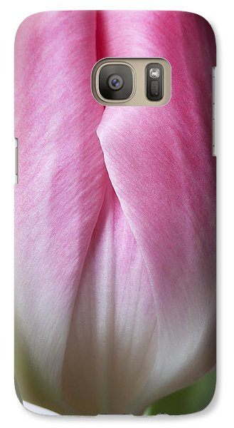 Galaxy Case featuring the photograph Close Up Pink White Tulips Flowers Macro Photography Art Work by Artecco Fine Art Photography