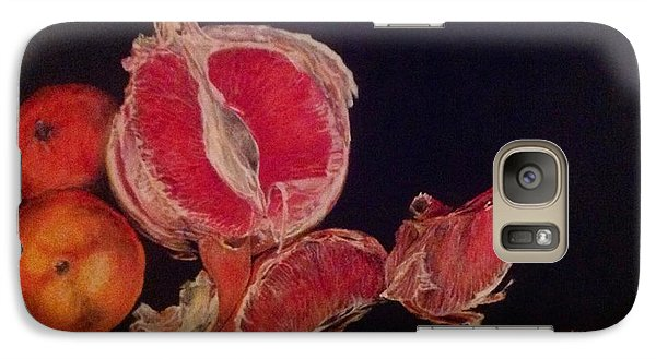 Galaxy Case featuring the painting Pink Zest by Iya Carson