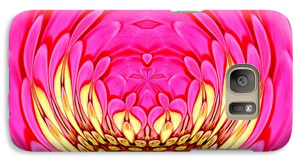 Galaxy Case featuring the photograph Pink Zinnia Polar Coordinate 2 by Rose Santuci-Sofranko
