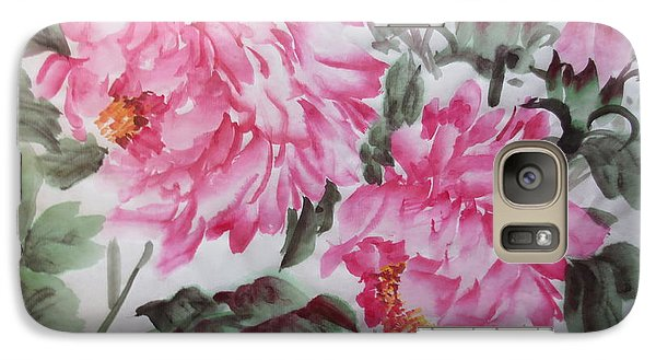 Galaxy Case featuring the painting Pink030914-516 by Dongling Sun