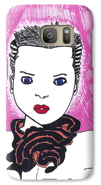 Galaxy Case featuring the drawing Pinky Party Girl by Don Koester