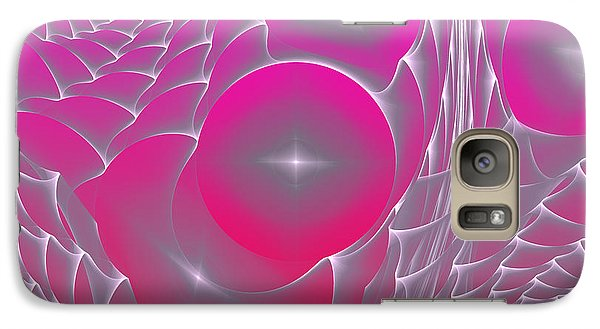 Galaxy Case featuring the digital art Pinky Space by Hanza Turgul