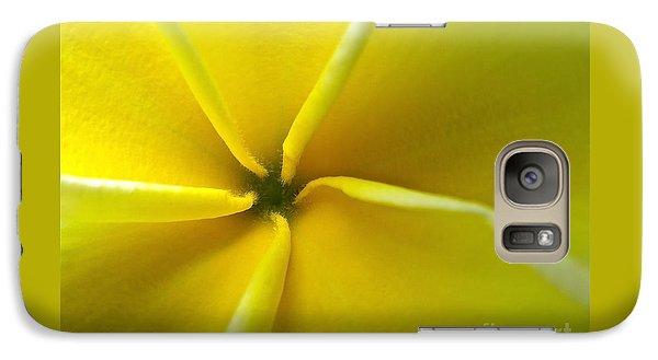 Galaxy Case featuring the photograph Pinwheel Plumeria by Joy Hardee