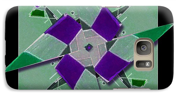 Galaxy Case featuring the photograph Pinwheel Ready To Spin by Barbara R MacPhail