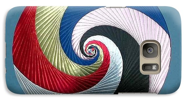 Galaxy Case featuring the mixed media Pinwheel by Ron Davidson