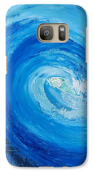 Galaxy Case featuring the painting Pipeline No Way Out by Conor Murphy
