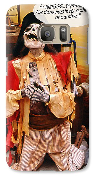 Galaxy Case featuring the photograph Pirate For Halloween by Gary Brandes