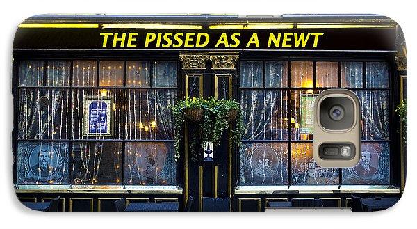 Pissed As A Newt Pub  Galaxy Case by David Pyatt