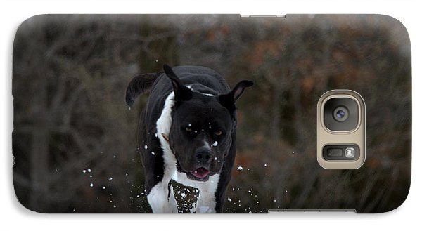 Galaxy Case featuring the photograph Pit At Play by Cathy Shiflett