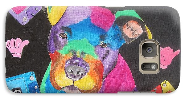 Galaxy Case featuring the painting Pitbull by Jeepee Aero