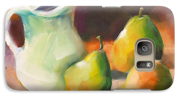 Galaxy Case featuring the painting Pitcher And Pears by Michelle Abrams