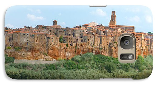 Galaxy Case featuring the photograph Pitigliano Panorama by Alan Socolik