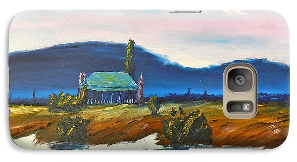 Galaxy Case featuring the painting Pittown by Pamela  Meredith