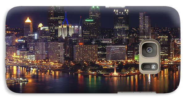 Galaxy Case featuring the photograph Pittsburgh After The Setting Sun by Michelle Joseph-Long