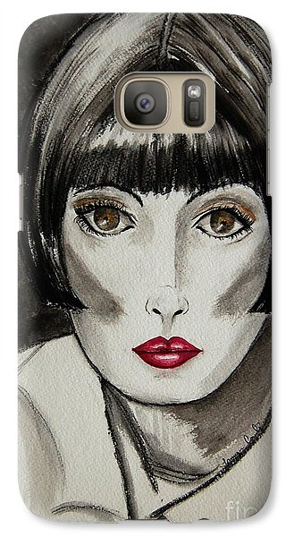 Galaxy Case featuring the painting Pixie by Tamyra Crossley