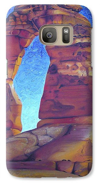 Galaxy Case featuring the painting Place Of Power by Joshua Morton