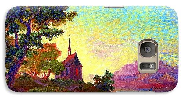 Galaxy Case featuring the painting Beautiful Church, Place Of Welcome by Jane Small