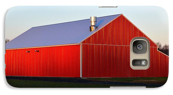 Galaxy Case featuring the photograph Plain Jane Red Barn by Bill Swartwout