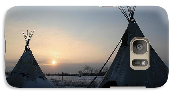 Galaxy Case featuring the photograph Plains Cree Tipi by Larry Trupp
