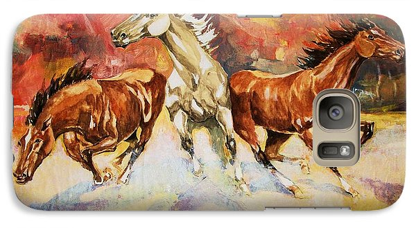 Galaxy Case featuring the painting Plains Thunder by Al Brown