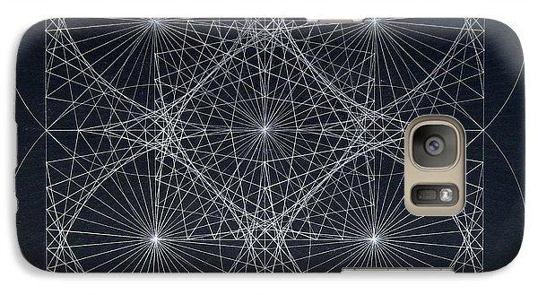 Galaxy Case featuring the drawing Plancks Blackhole by Jason Padgett