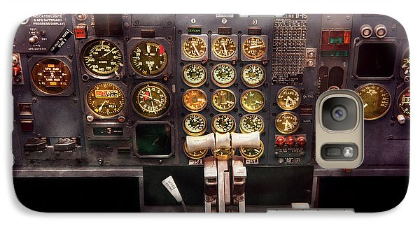 Plane - Cockpit - Boeing 727 - The Controls Are Set Galaxy S7 Case