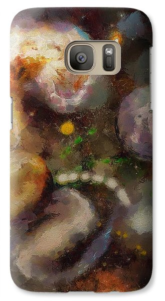 Galaxy Case featuring the painting Planet Explosion by Wayne Pascall