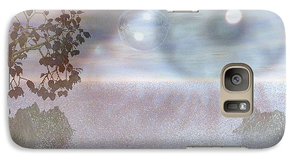 Galaxy Case featuring the digital art Planet Eye by Kim Prowse