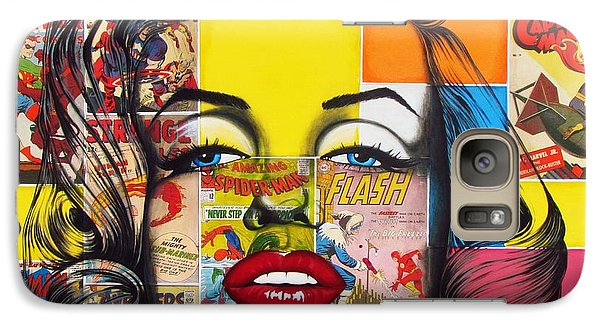 Galaxy Case featuring the mixed media Planet Marilyn by Joseph Sonday