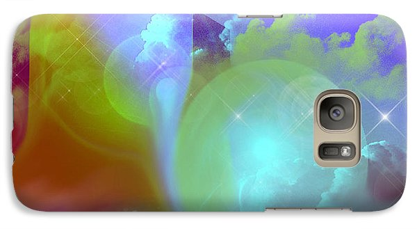 Galaxy Case featuring the digital art Planetary Storm by Ute Posegga-Rudel